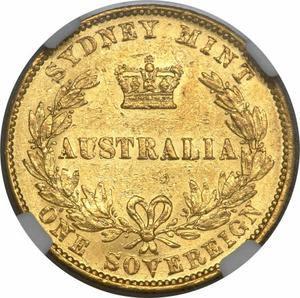 New South Wales / Australian Sovereign 1859 - reverse photo