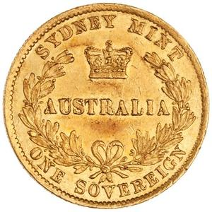 New South Wales / Australian Sovereign 1865 - reverse photo
