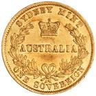 Australian Sovereign 1865: Photo Gold sovereign, Sydney (N.S.W.)