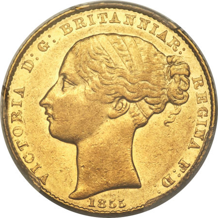 Australian Sovereign: Photo Australia 1855-S sovereign
