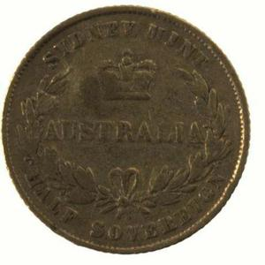 New South Wales / Australian Half Sovereign 1862 - reverse photo