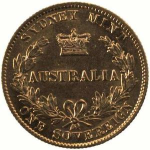 New South Wales / Australian Sovereign 1870 - reverse photo