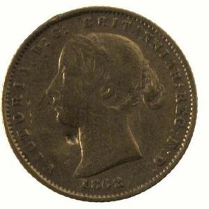 New South Wales / Australian Half Sovereign 1862 - obverse photo