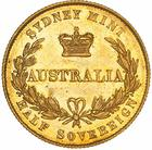 Australian Half Sovereign 1855: Photo Pattern Coin - Half Sovereign, New South Wales, Australia, 1855