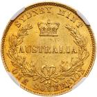 Australian Sovereign 1865: Photo Australia 1865-S sovereign