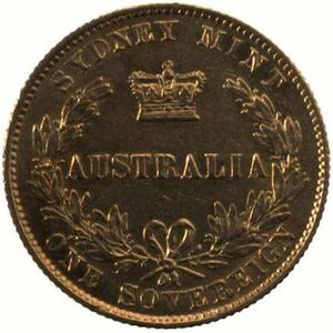 New South Wales / Australian Half Sovereign 1866 - reverse photo