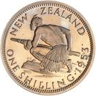 Shilling 1953: Photo Proof Coin - 1 Shilling, New Zealand, 1953