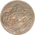 One Dollar 1970 Mount Cook (Royal Visit): Photo New Zealand Dollar 1970