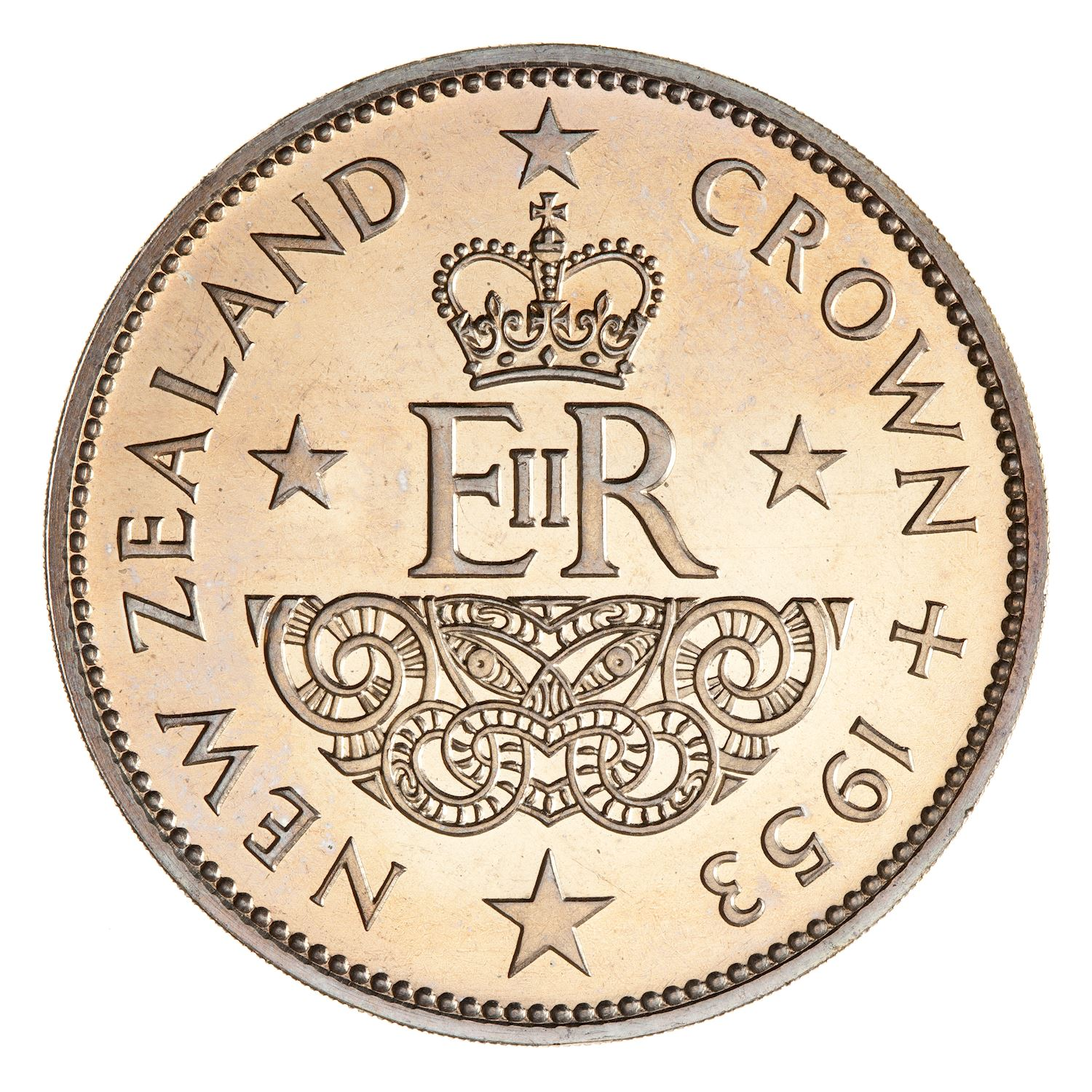 Crown: Photo Proof Coin - Crown (5 Shillings), New Zealand, 1953