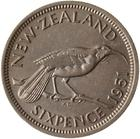 New Zealand / Sixpence 1951 - reverse photo