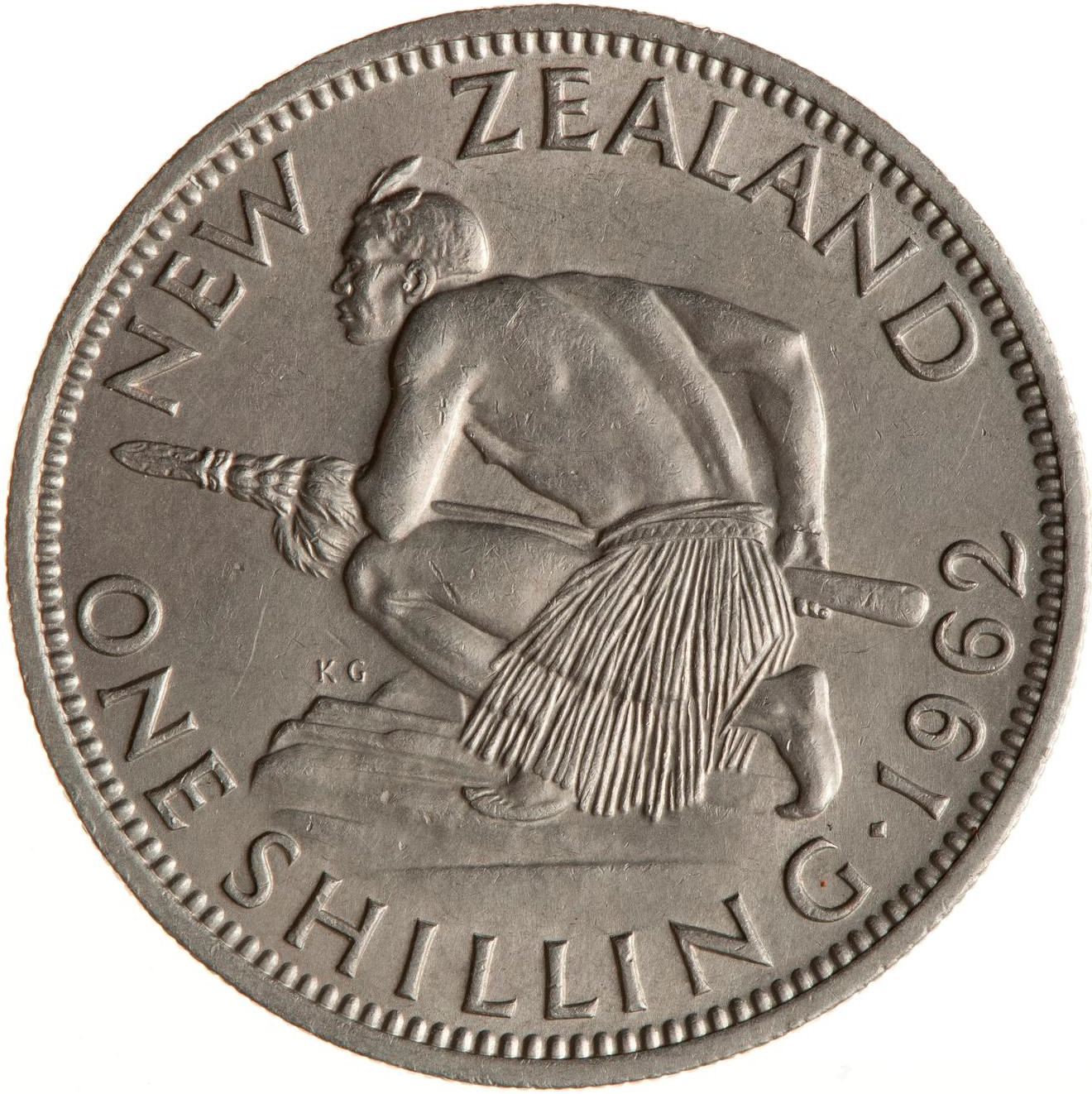 Shilling 1962: Photo Coin - 1 Shilling, New Zealand, 1962