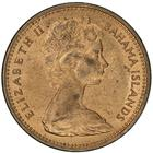 New Zealand / Two Cents 1967 (no date, Bahamas mule) - obverse photo