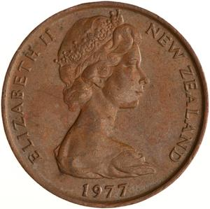 New Zealand / Two Cents 1977 - obverse photo