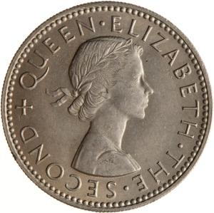 New Zealand / Shilling 1960 - obverse photo