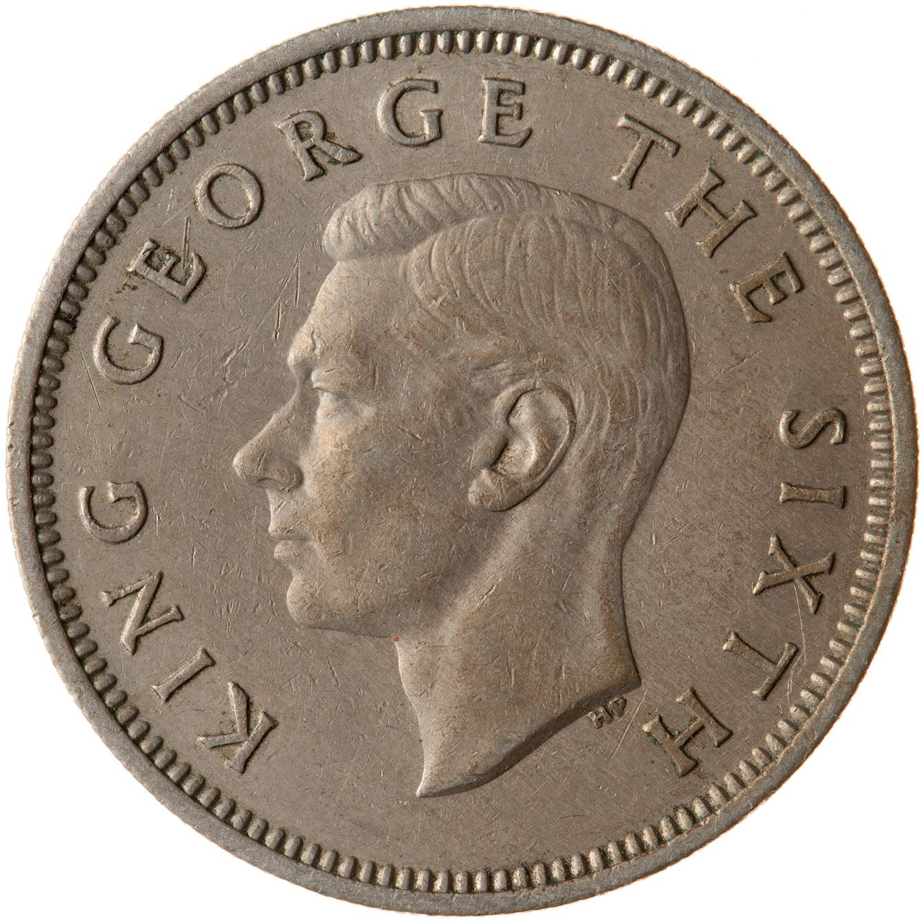 Shilling 1950: Photo Coin - 1 Shilling, New Zealand, 1950
