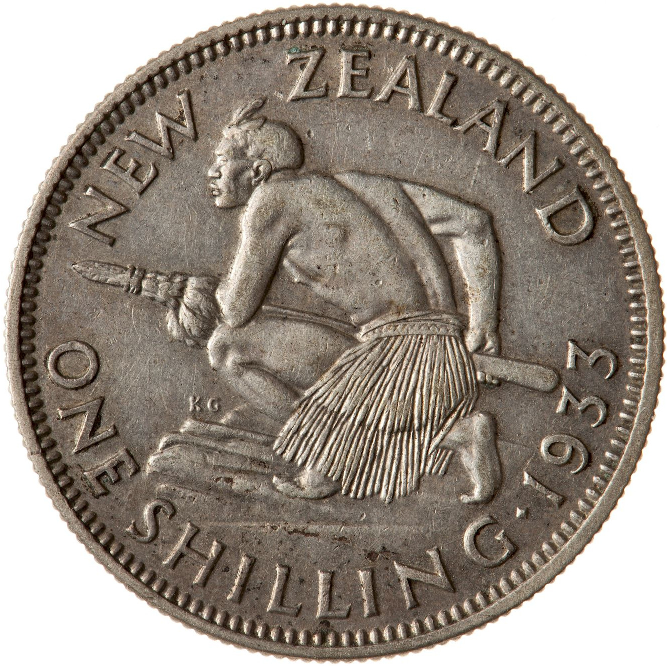 Shilling 1933: Photo Coin - 1 Shilling, New Zealand, 1933