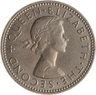 New Zealand / Shilling 1962 - obverse photo
