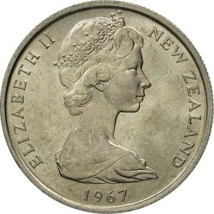 New Zealand / Five Cents 1967 - obverse photo