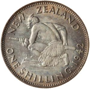 New Zealand / Shilling 1942 - reverse photo