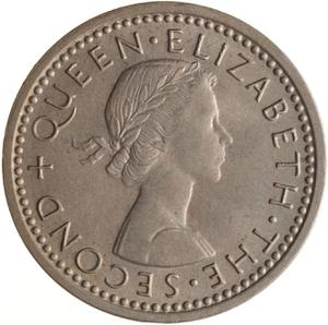 New Zealand / Threepence 1962 - obverse photo