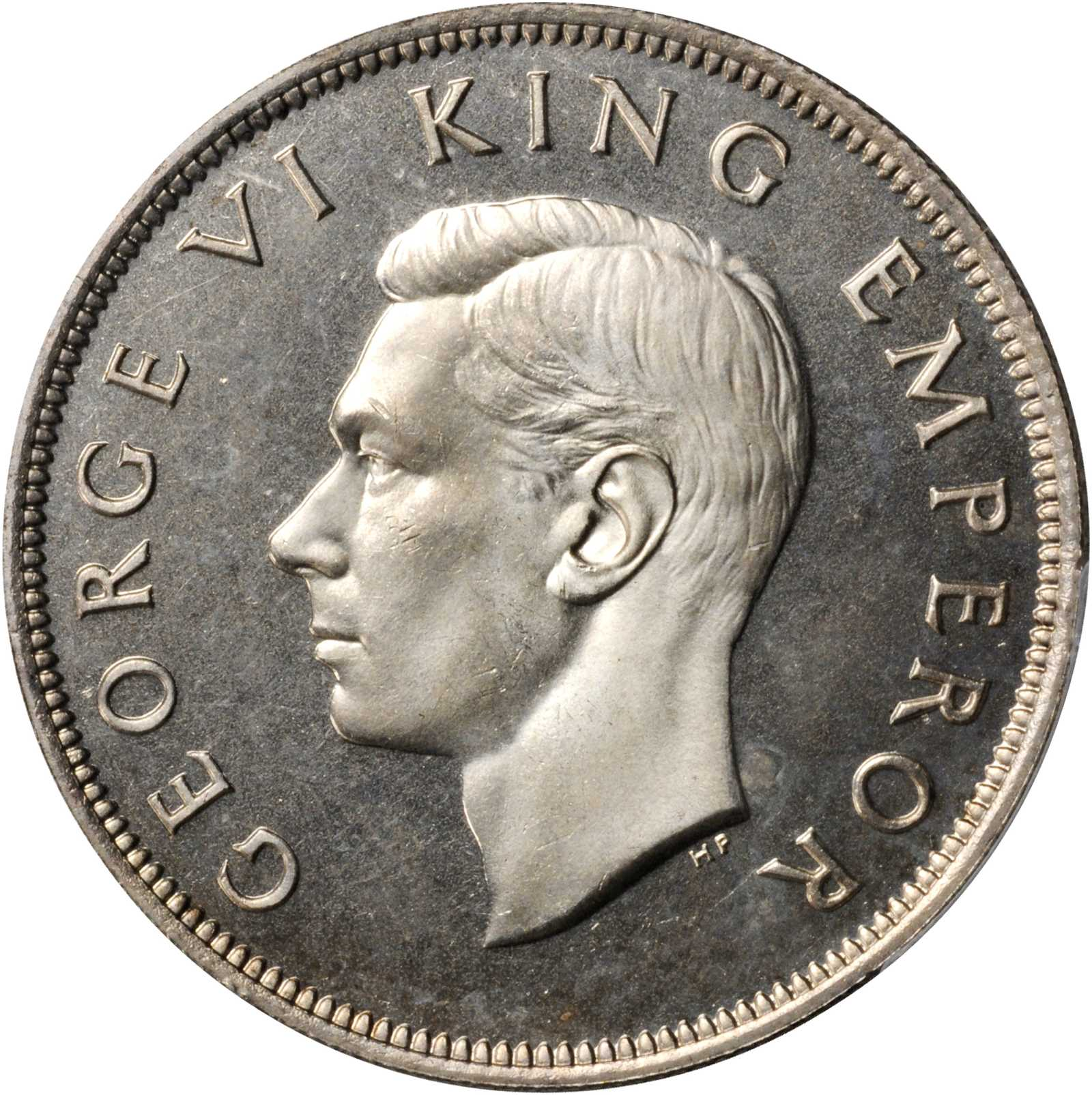 Half Crown 1940 (Centennial): Photo New Zealand 1940 1/2 crown