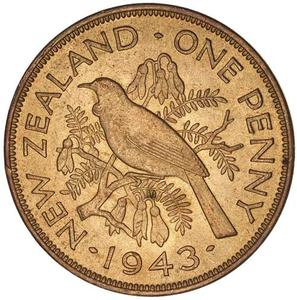New Zealand / Penny 1943 - reverse photo