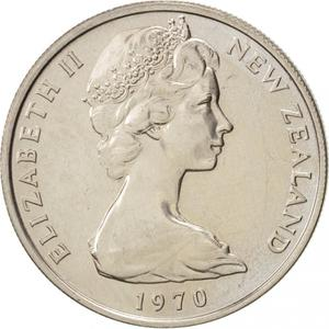 New Zealand / Ten Cents 1970 - obverse photo