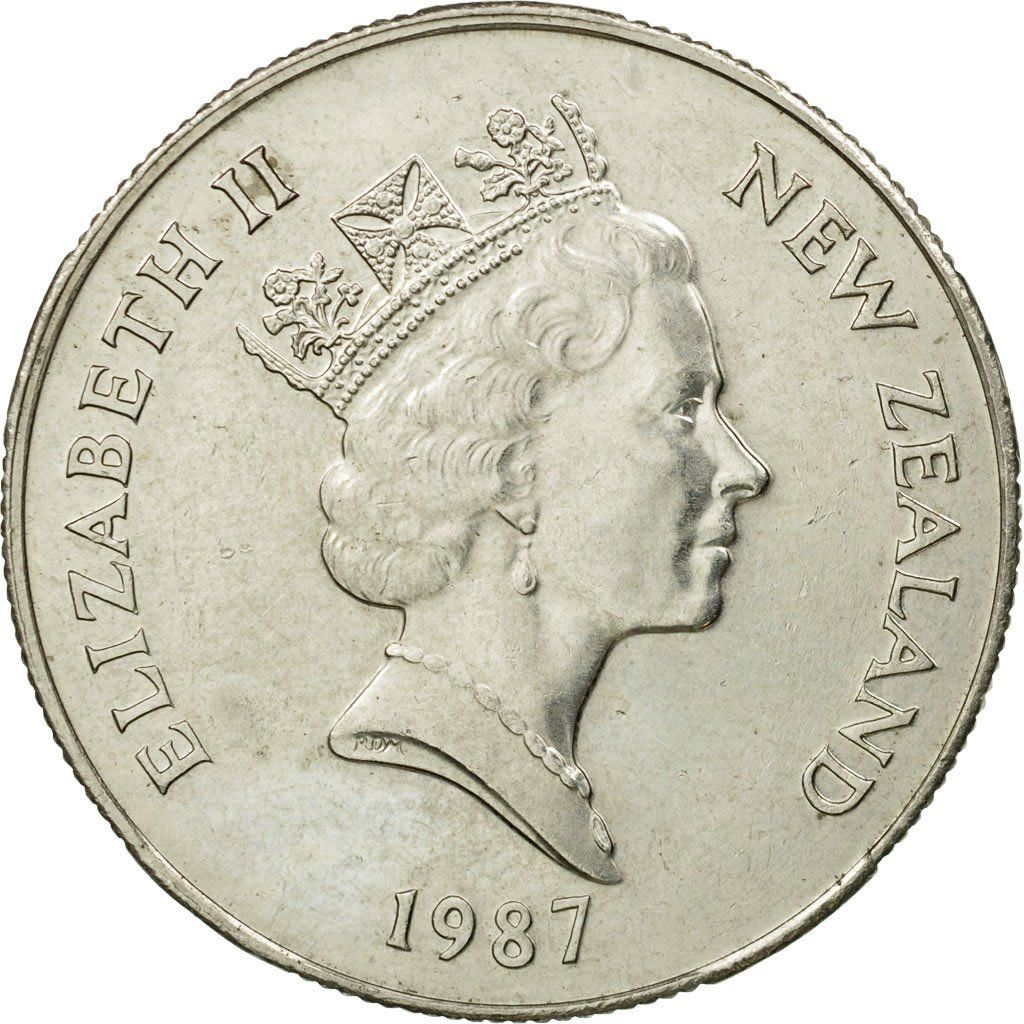 Fifty Cents 1987: Photo Coin, New Zealand, Elizabeth II, 50 Cents, 1987