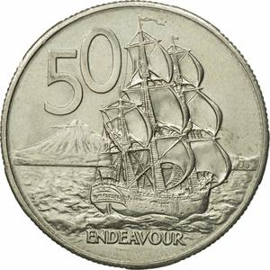 New Zealand / Fifty Cents 1980 - reverse photo