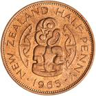 Halfpenny 1965: Photo Coin - 1/2 Penny, New Zealand, 1965