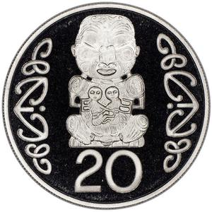 New Zealand / Twenty Cents 2002 - reverse photo