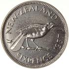 Sixpence 1937: Photo Proof Coin - 6 Pence, New Zealand, 1937