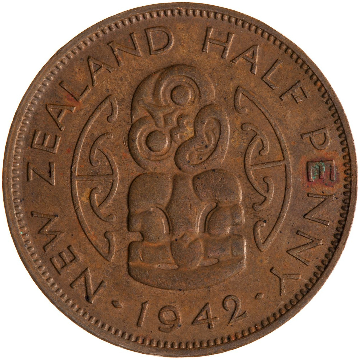 Halfpenny 1942: Photo Coin - 1/2 Penny, New Zealand, 1942
