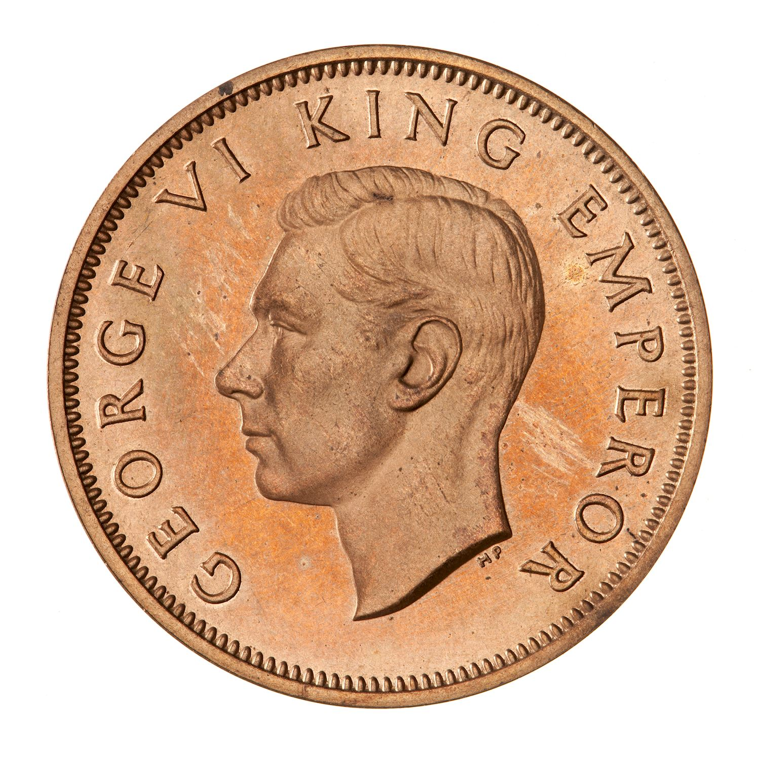 Halfpenny: Photo Proof Coin - 1/2 Penny, New Zealand, 1940
