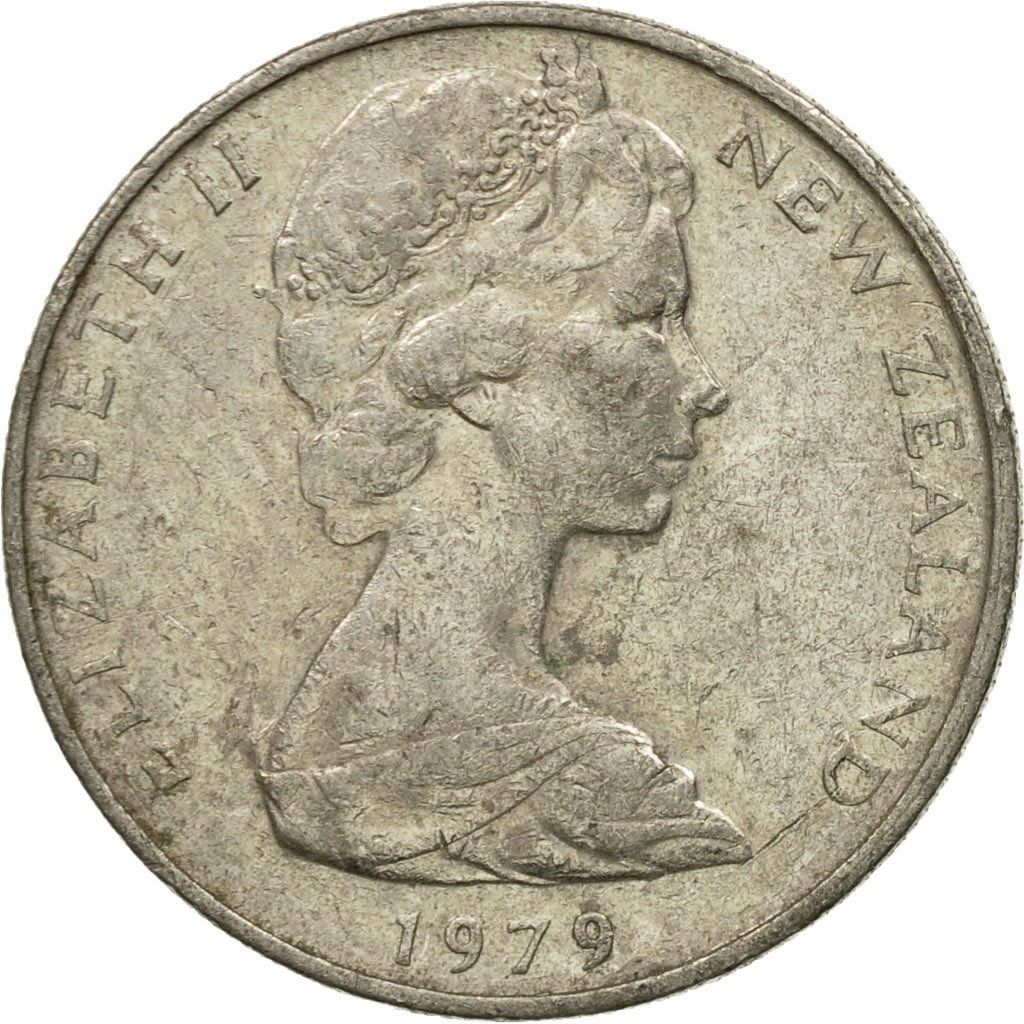 Ten Cents 1979: Photo Coin, New Zealand, Elizabeth II, 10 Cents, 1979