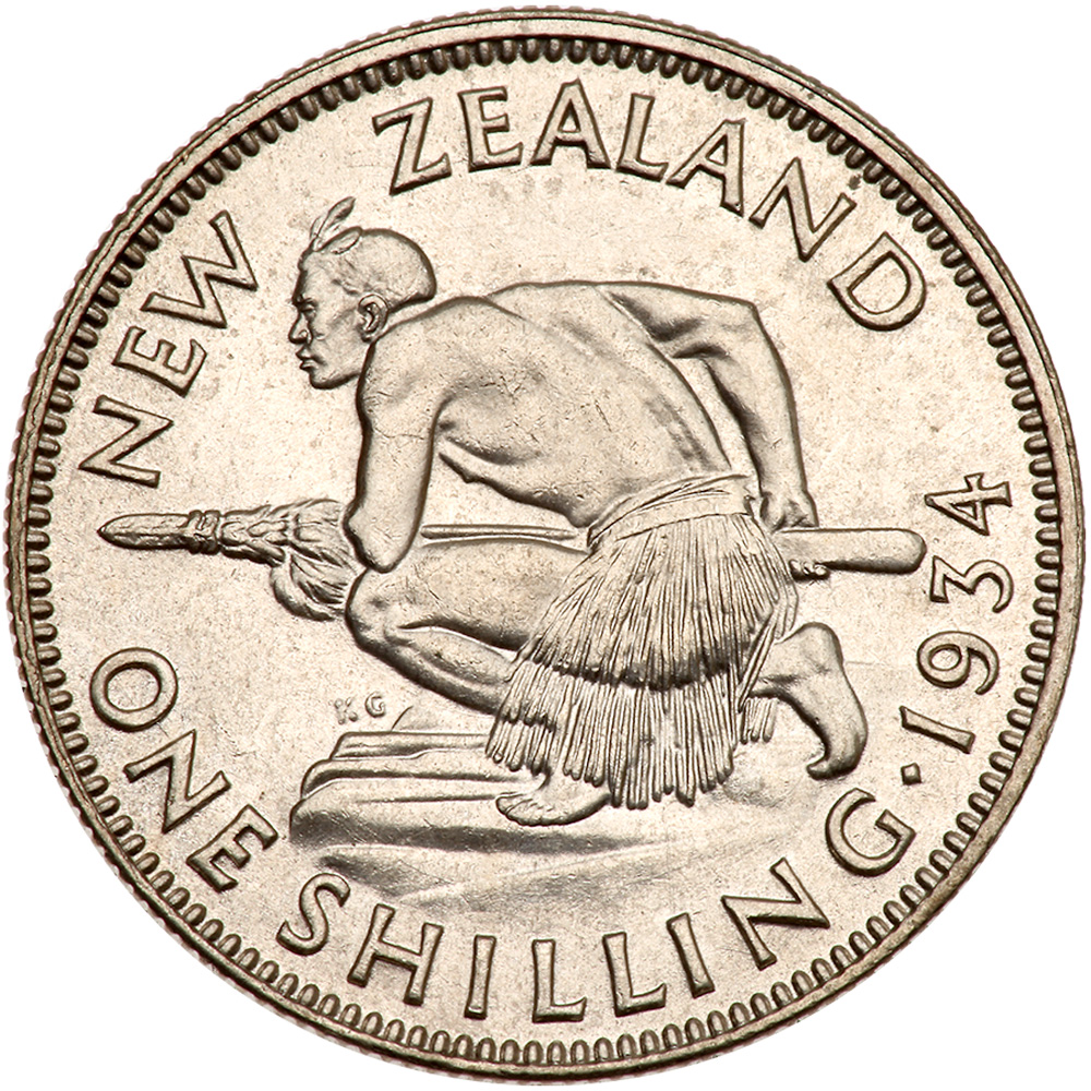 Shilling: Photo New Zealand 1934 shilling
