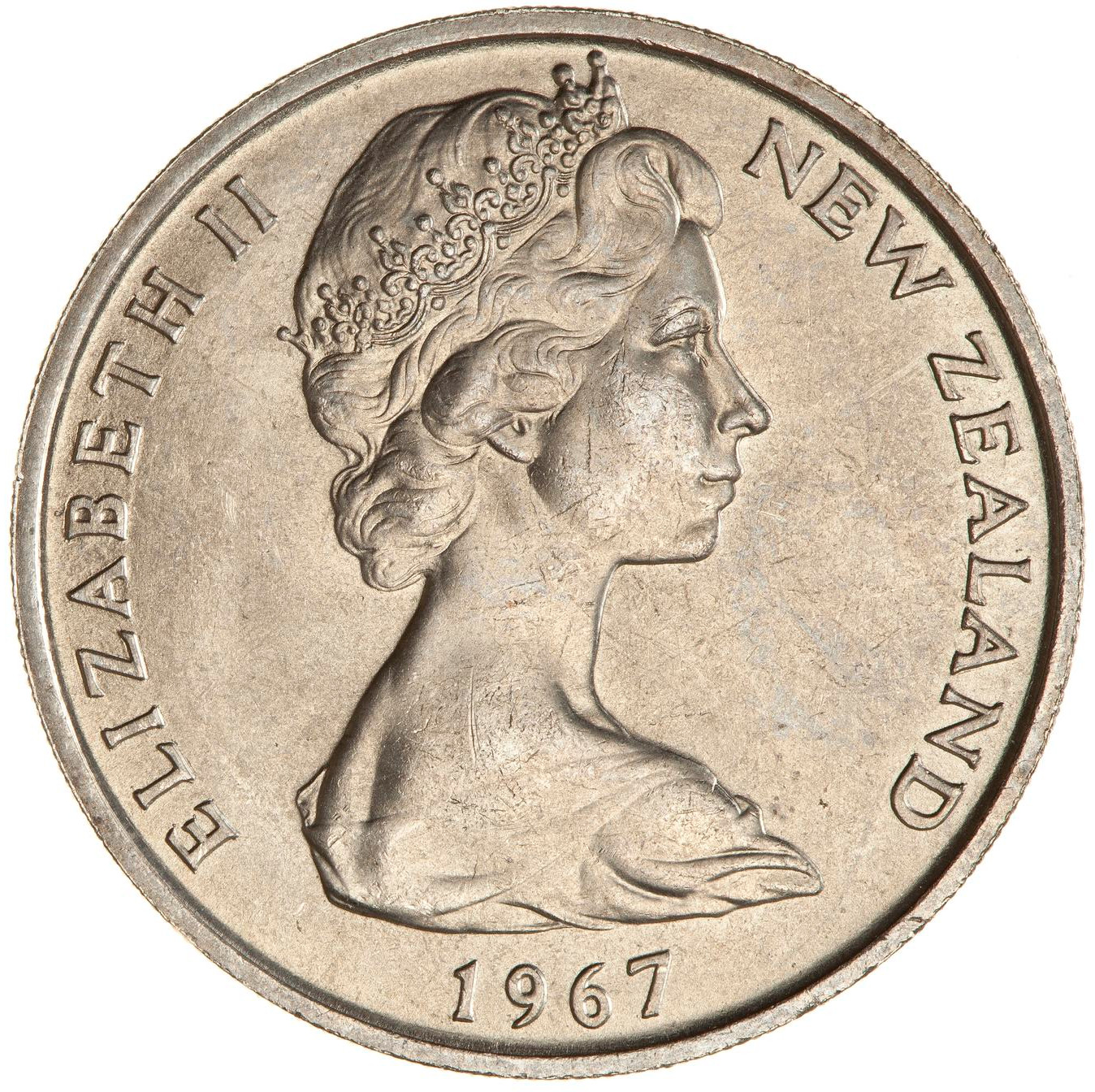 Twenty Cents: Photo Coin - 20 Cents, New Zealand, 1967