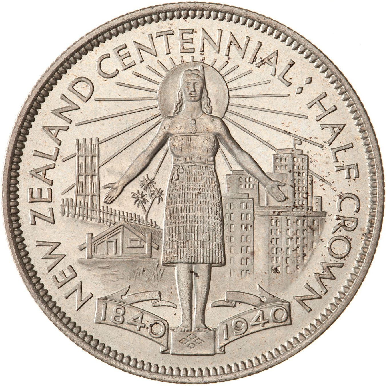 Half Crown 1940 (Centennial): Photo Proof Coin - 1/2 Crown, New Zealand, 1940