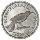 New Zealand / Sixpence 1946 - reverse photo