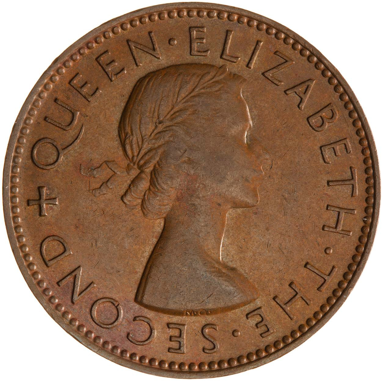 Halfpenny 1954: Photo Coin - 1/2 Penny, New Zealand, 1954