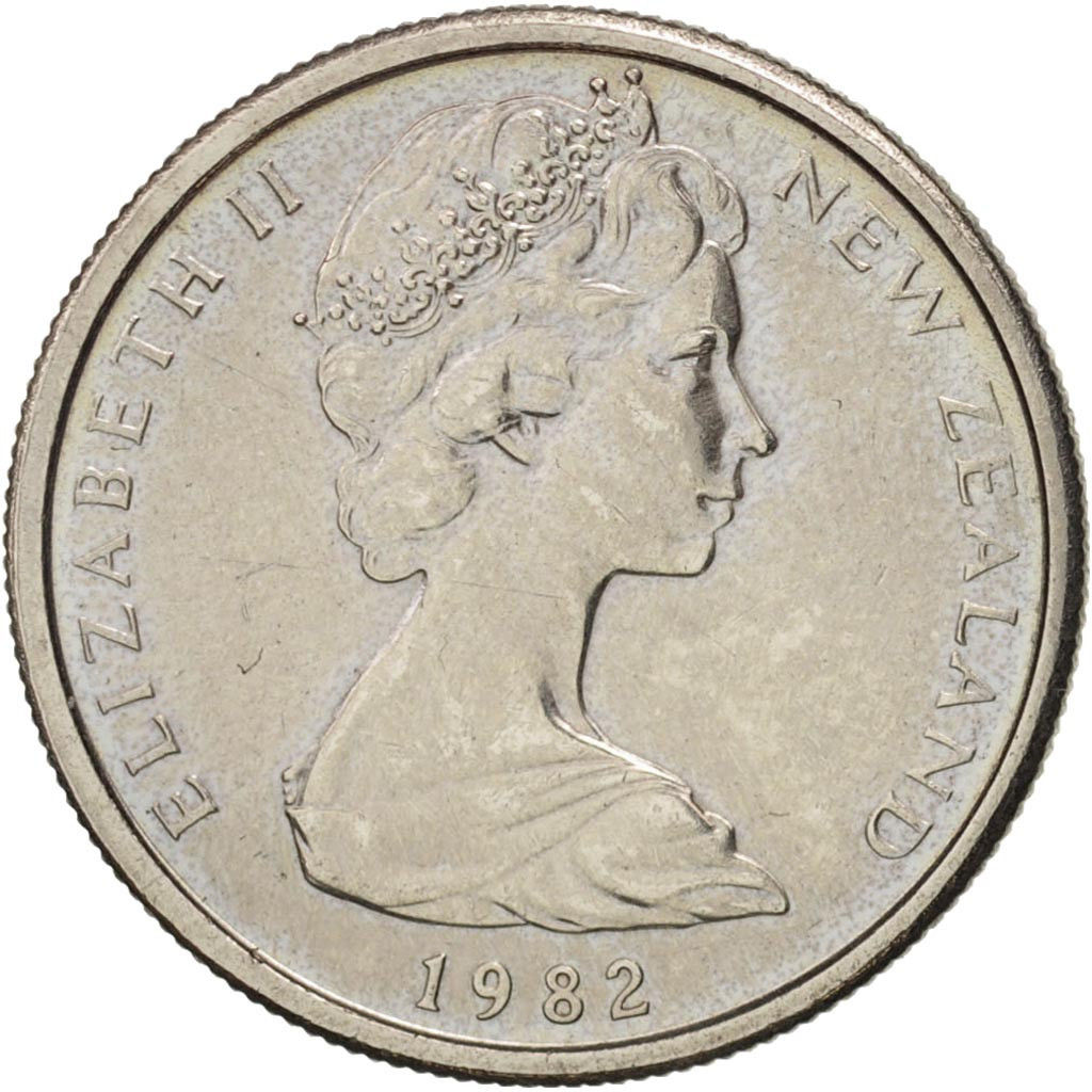Five Cents 1982: Photo New Zealand, Elizabeth II, 5 Cents, 1982