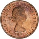 Halfpenny 1964: Photo Proof Coin - 1/2 Penny, New Zealand, 1964