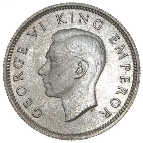 Sixpence 1946: Photo GEORGE VI, sixpence, 1946