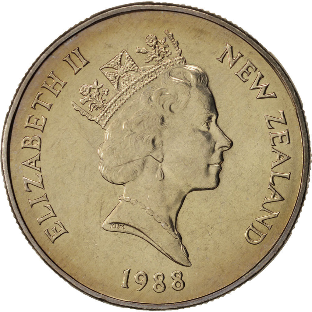 Fifty Cents 1988: Photo New Zealand, Elizabeth II, 50 Cents, 1988