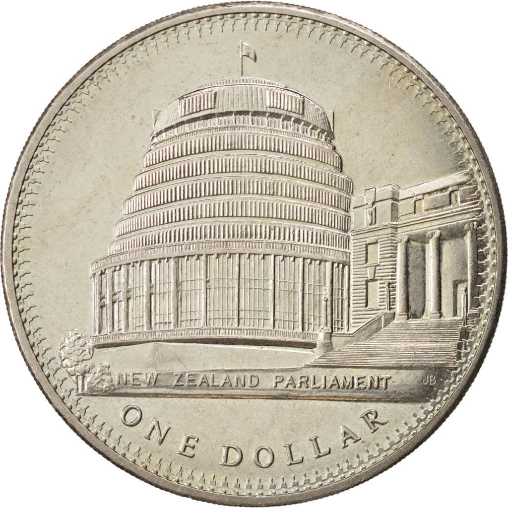One Dollar 1978 Opening of Parliament (Beehive): Photo New Zealand, Dollar, 1978