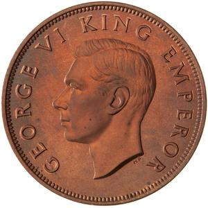 New Zealand / Penny 1940 - obverse photo