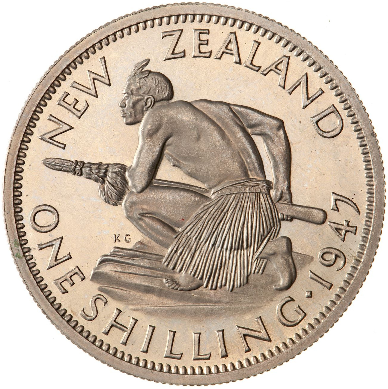 Shilling 1947, Coin from New Zealand - Online Coin Club
