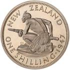 Shilling 1947: Photo Proof Coin - 1 Shilling, New Zealand, 1947