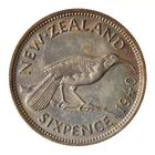Sixpence 1940: Photo Coin - 6 Pence, New Zealand, 1940