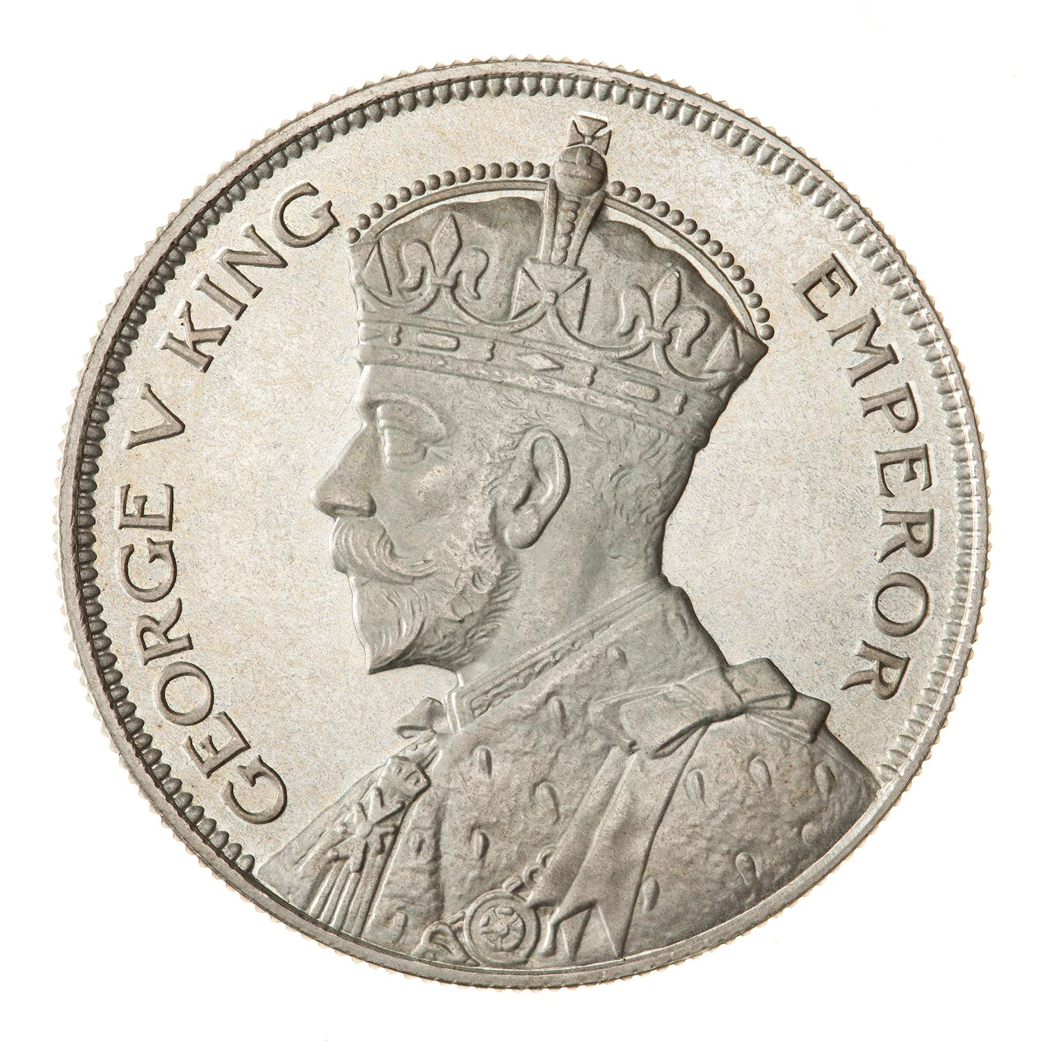 Half Crown (Silver): Photo Proof Coin - 1/2 Crown, New Zealand, 1933